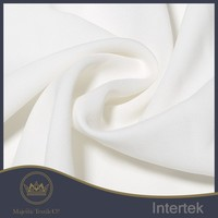 fine finished dyeing polyester white twill poplin fabric