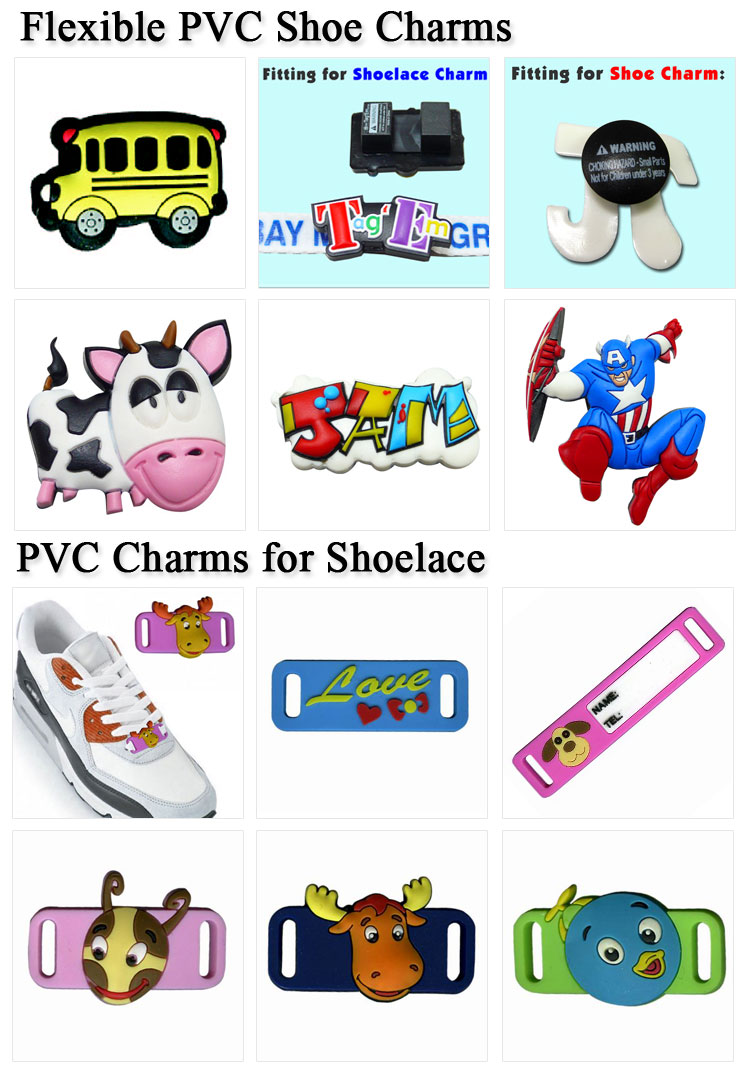 Rubber Buttons Charms Custom PVC Decoration for Crocs