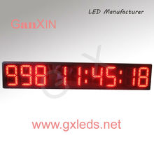 8 inch 9 digits semi-outdoor alibaba cn led timer led countdown timer