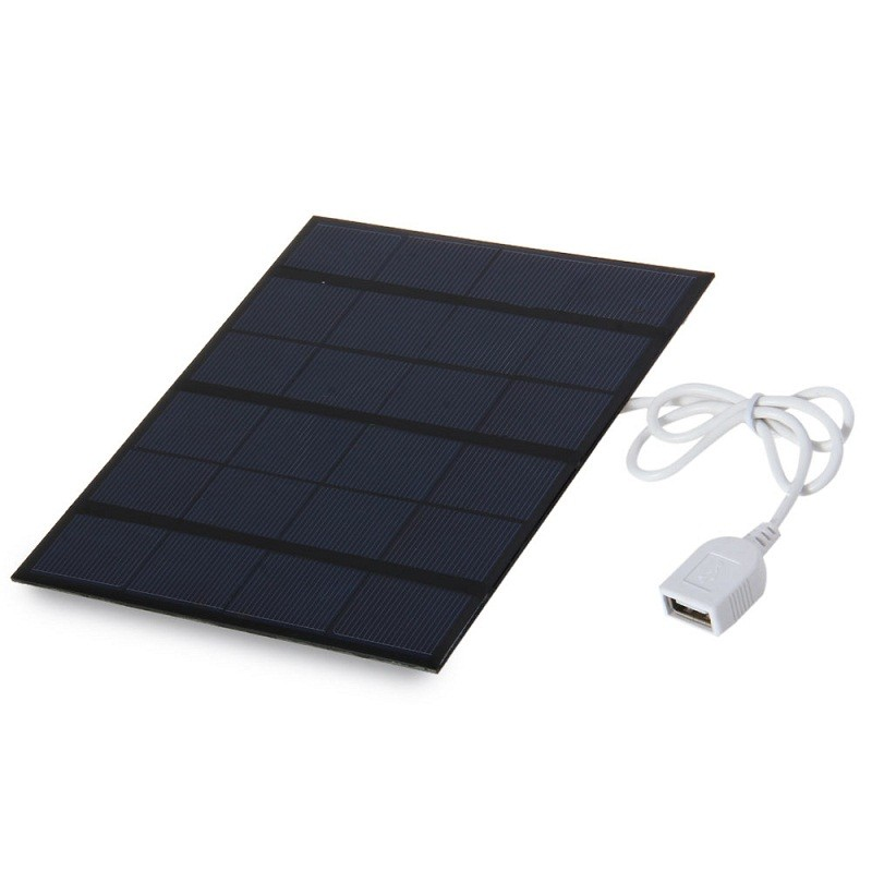 BUHESHUI High Quality 3.5W 6V USB Portable Solar Charger 135x165mm Small Solar Panel Polycrystalline Silicon Solar Cells