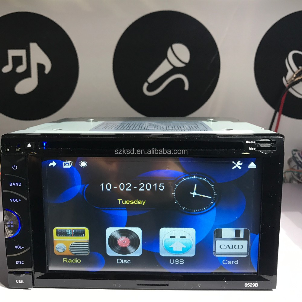 Wholesale double din dvd player WinCE Android system car audios KSD-6529B