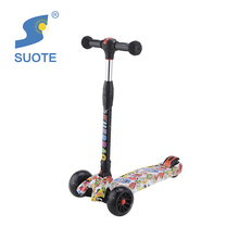 Foldable three four wheeled folding cheap pedal skate self balancing child kick scooters