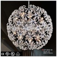 modern glass balls pendant lamp crystal lamparas decorativas