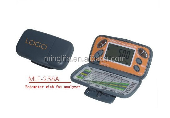 Special Promotional Fat Pedometer M238A Body Fat Analyzer Fitness Calorie and Counter Steps with Cover