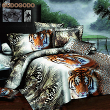 Wholesale Price Confortable 4Pcs Bed Sheet Full Size 3D Animal Prints 100% Polyester Bedding Set