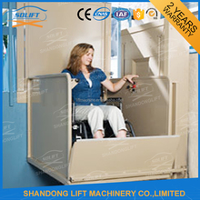 hydraulic outdoor or indoor elevator 1 floor for elderly or disabled