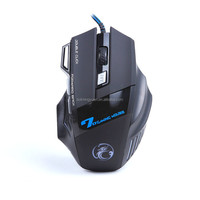 X7 Wired Gaming Mouse with Multicolor Breath LED Light