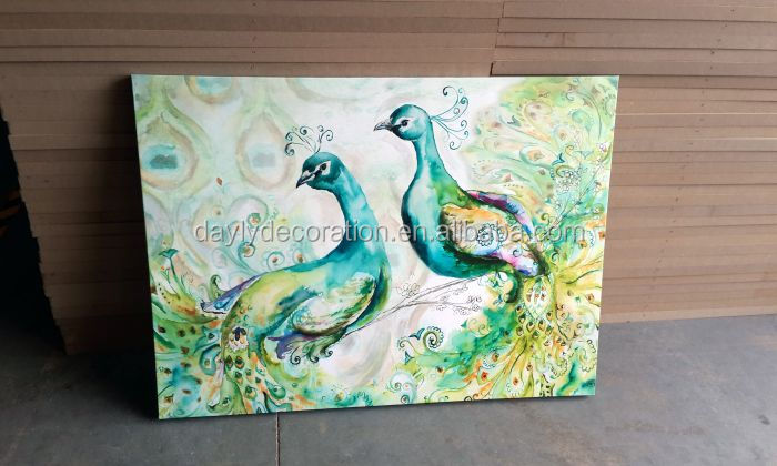 peacock animal picture canvas frame
