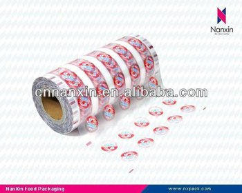 plastic sealing film for jelly cup
