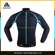 2016 New Design Men's Full-Zip Quick-Dry Lightweight Windproof Waterproof OEM Sun-Protection Thermal Black Cycling Jacket