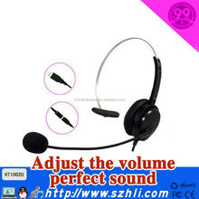 Binaural Call Center Headset with USB plug and QD cable