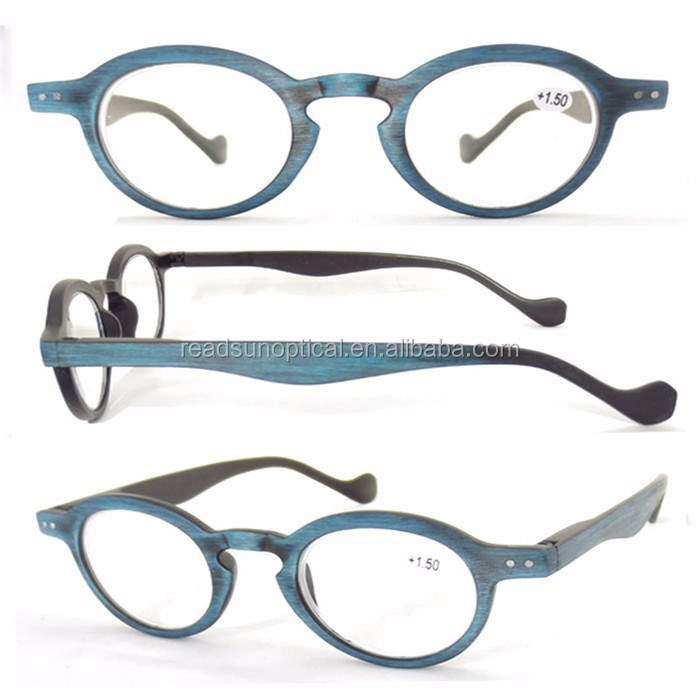 Top quality cool design wood surface women stylish reading glasses