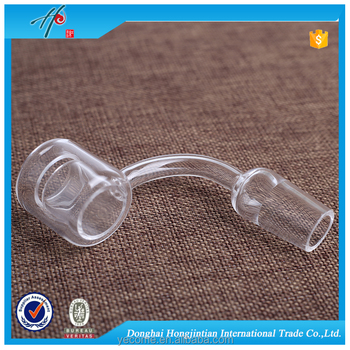 45 degree male & female joint glass water pipe
