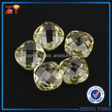 Round Square Cubic Zirconia, Square Shaped Double Facted CZ Stones