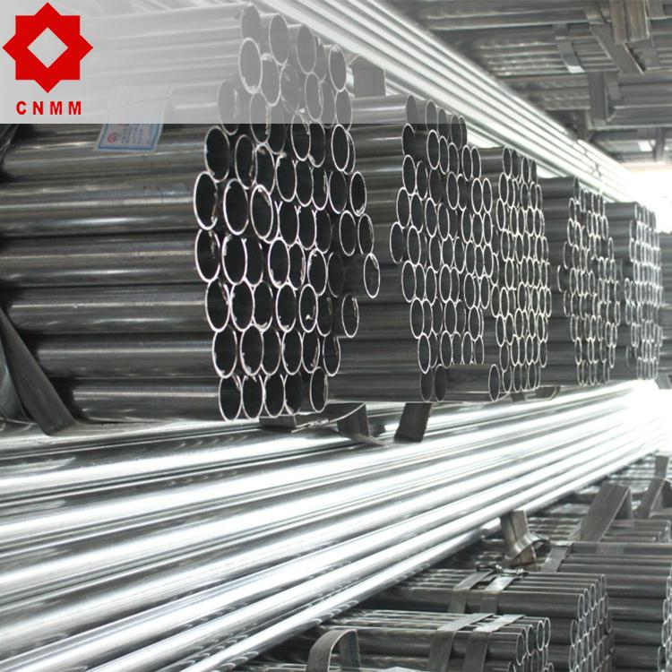carbon sleeve steel straight ms erw pipe pre galvanized
