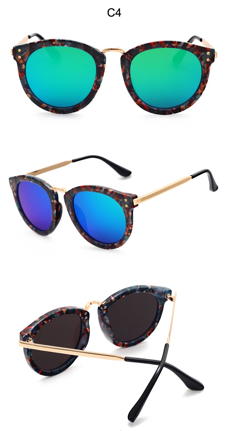 New Classic Retro Women's Fashion Cat Eye Sunglasses Brand Designer Coated Mirror Flat Lens UV400 Sun glasses Shades CC5083