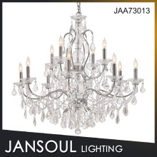 Jansoul Lighting Luxury Flower Candle Holder Ceiling K9 Crystal Chandelier