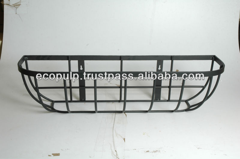 Window basket with coco liner