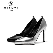 D044 young ladies fashion shoes woman pencil high heel women's dress shoes leather