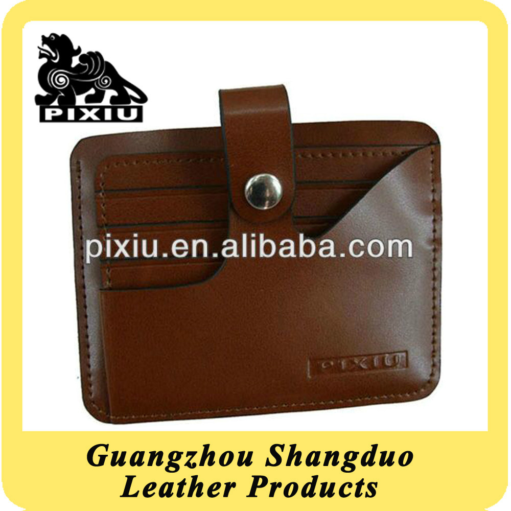 Guangdong Factory Unique Design Leather Credit Card Holder Case