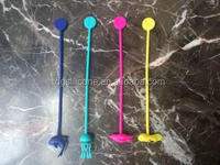 China OEM factory kitchenware cookware cooking equipments utensils tools silicone Cocktail muddler with nylon core