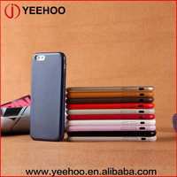 colors available luxury soft mobile phone case PU leather back cover for iphone 5/6/6plus