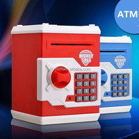 promotional toy money saving box atm bank toy for children plastic piggy box