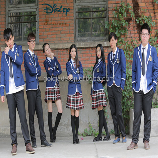 OEM popular long short sleeve shirt pants check dress tie sexy school uniforms for adults