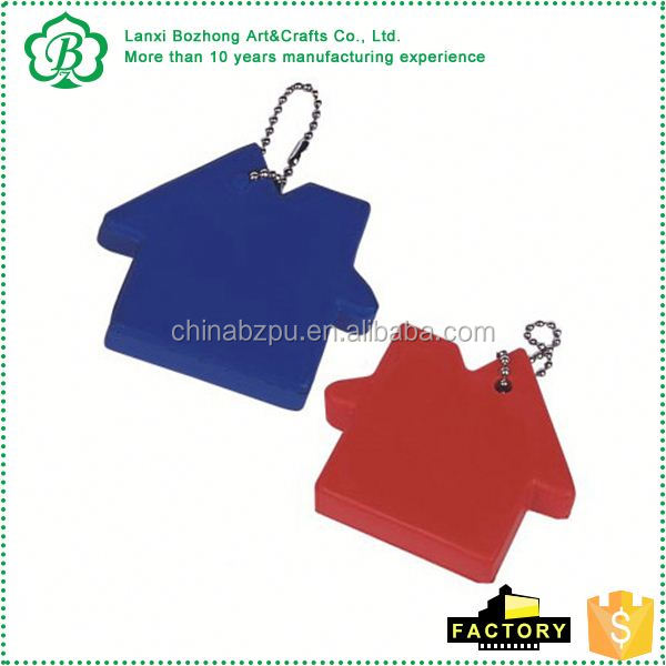 wholesale supply oem embossed logo stress pu keychain