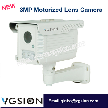 Outdoor Use Memory Card Slot Motion Dection Recording Professional Network WDR Function 3MP 4X Motorized Lens Camera