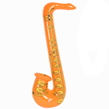 Promotional inflatable music instruments