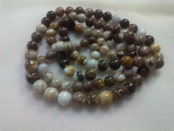 petrified wood beads for necklace /bracelet