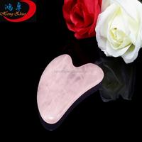 Guasha board made of China rose quartz guasha tool eyes massage tool