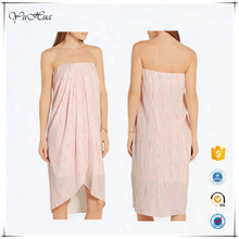 2016 new latest fashion women pink celebrity casual summer birthday evening party strapless dress