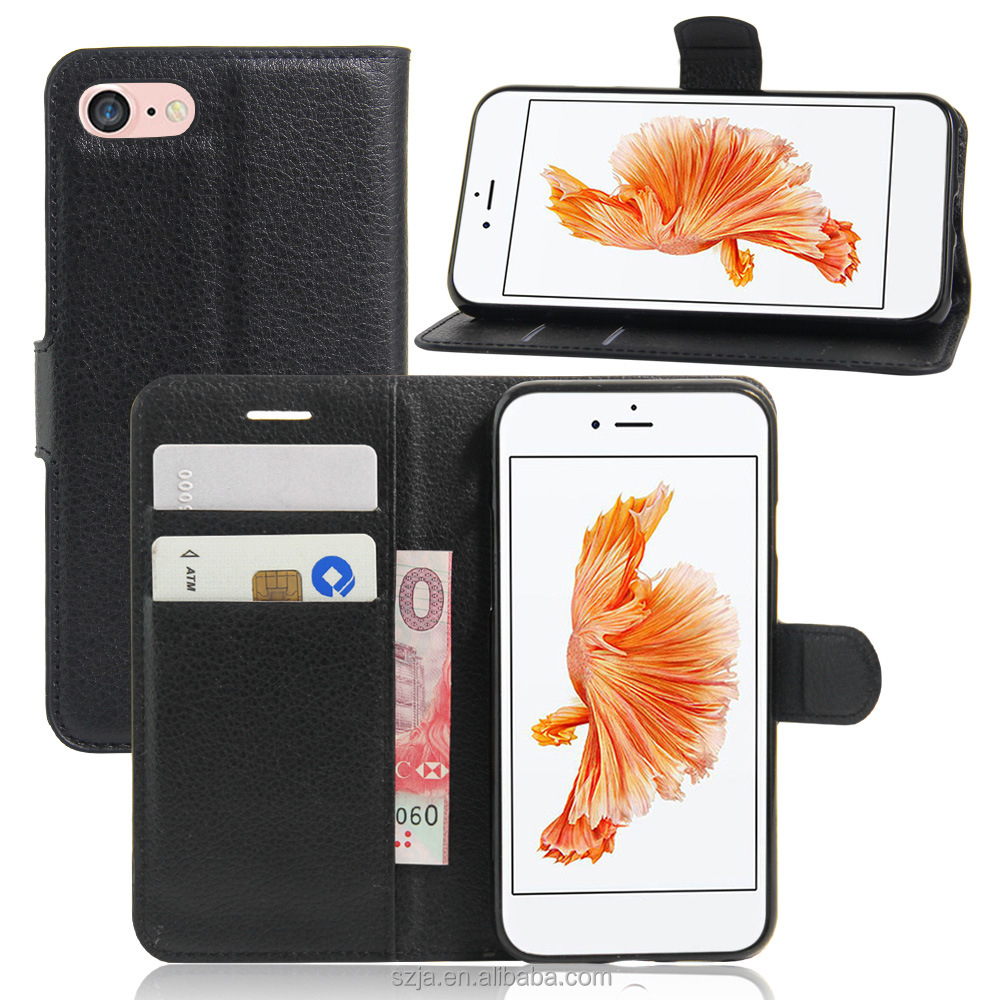 Newest design Cool PU Leather Mobile Phone Pouch Case cover for iphone 7