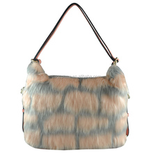 CC44-126 fashion lady handbag fur bag high quality leather handbag
