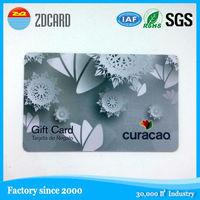 Silk print golden/silver surface rfid card id smart ic card