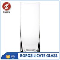 crystal clear heat resistant cylinder glass vase