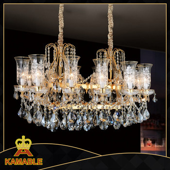 lighting decorative glass crystal lamp