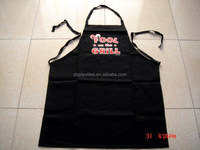 cheap BBQ apron &cotton apron for kitchen and promotion black bib apron with printing -20