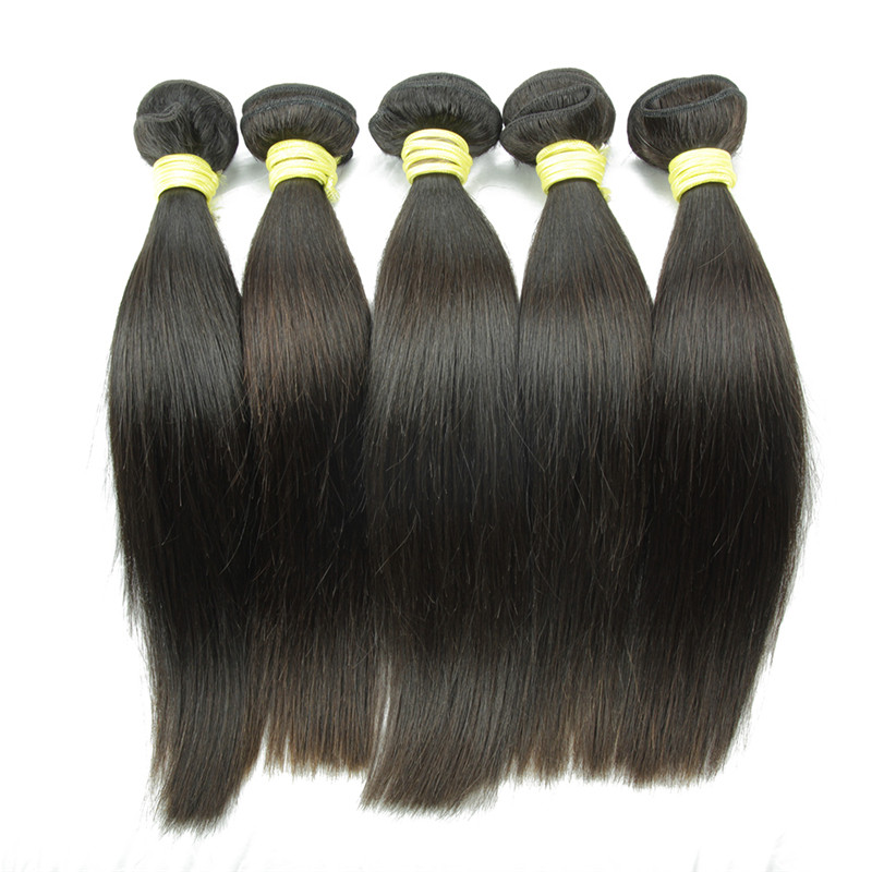 Easy to dye brazilian virgin hair real mink virgin brazilian hair bundles brazilian human hair sew in weave straight