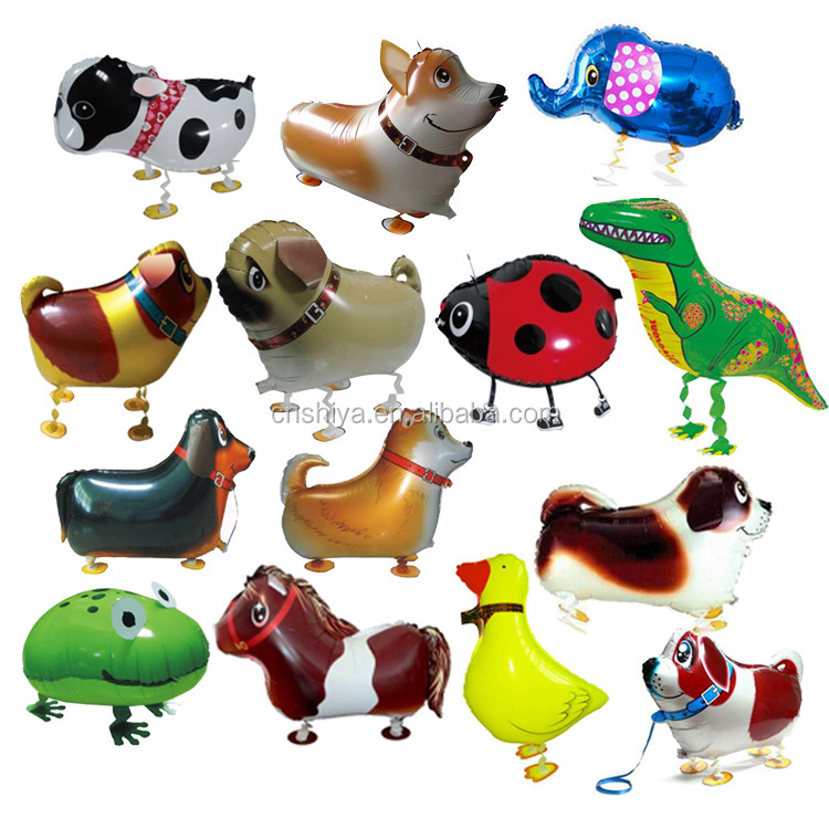2019 Taobao horse/chicken/dog/ladybird/duck/dinosaur/frog foil balloons,<strong>Led</strong> Transparent flying walking animals Balloons