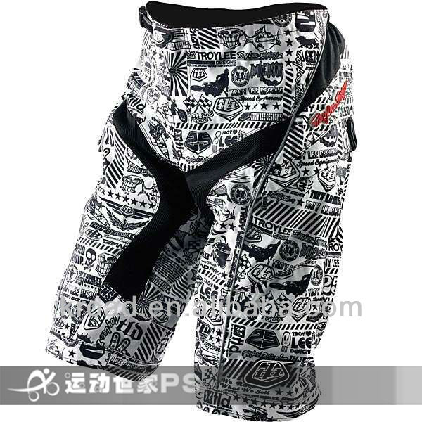 Troy Lee Moto Shorts/Bicycle Cycling Cycle MTB BMX DOWNHILL Shorts/Motorcycle Motorcross Short/TLD Bike Pant white mix black