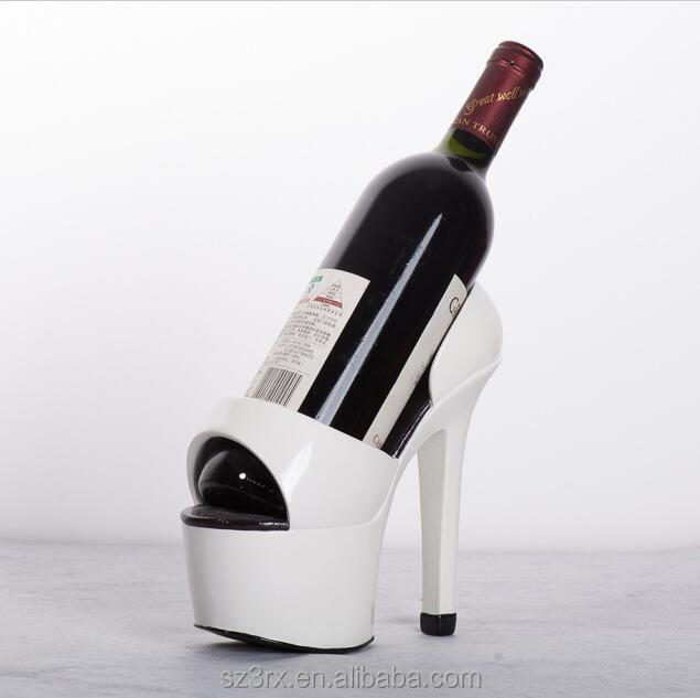 custom design high heels shoe resin wine rack craft/resin rack wine rack high heels shape/fashion high heels resin wine rack