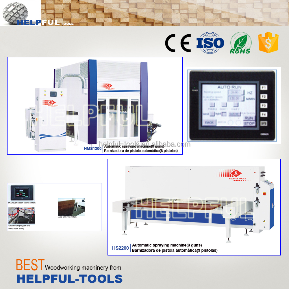 PLC controlled automatic wood painting machine, wood spraying machine for door and cabinet painting