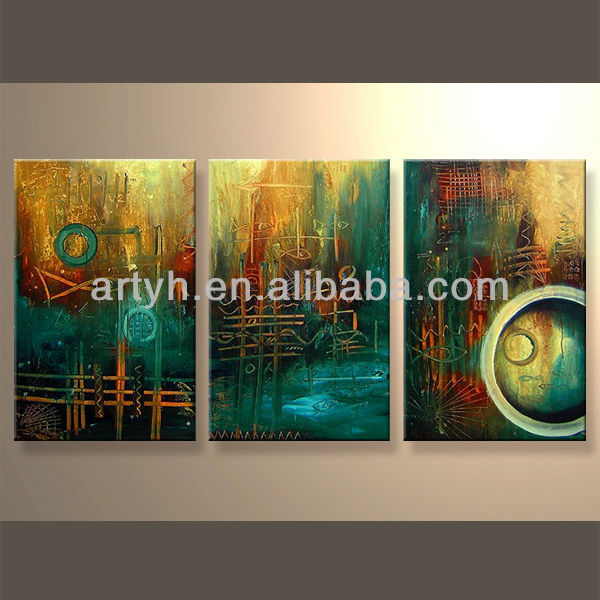 Newest Handmade Textured Group Oil Paintings For Decor