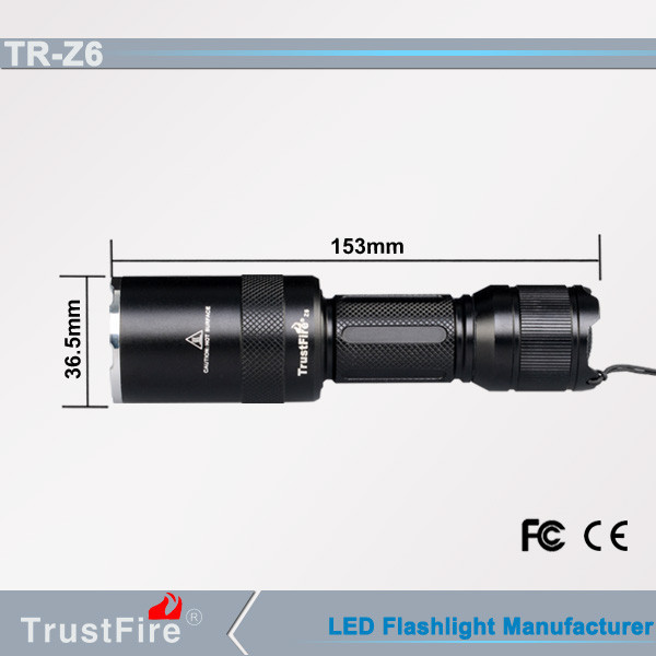 Mini zoom flashlight torch TrustFire Z6 zoom mini pocket light,telescopic baton multifunction mini hand tools torch light