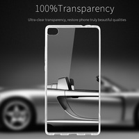 EXCO high quality mobile phone clear cover transparent ultra slim tpu case for huawei p8 lite
