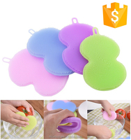 Wholesale Customize Star Shaped Super Soft Deep Cleaning Silicone Dish Brush For Cleaning tool