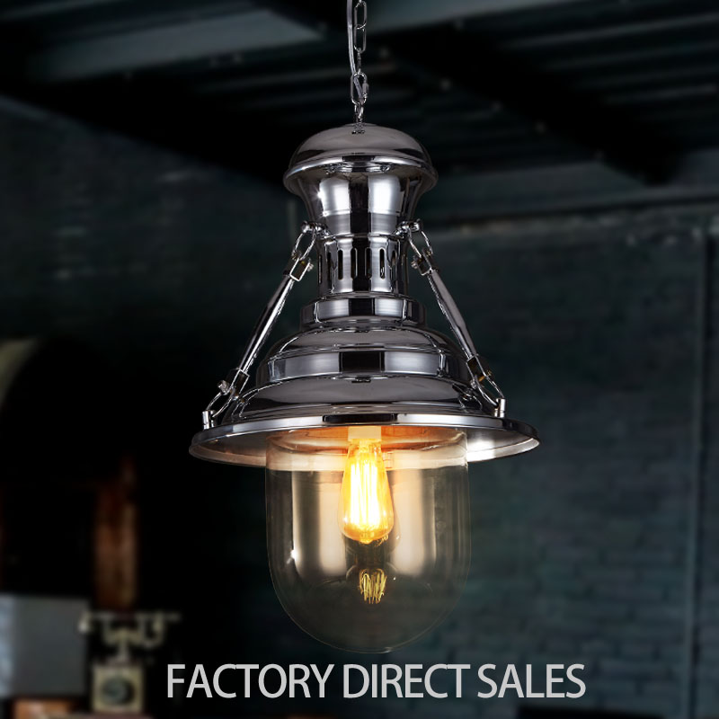 Nordic creative lighting lamp American industrial plating iron vintage pendant lamp